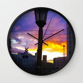 Sunset at Union Station - LA Baby - Jeronimo Rubio Photography 2016 (all over) Wall Clock