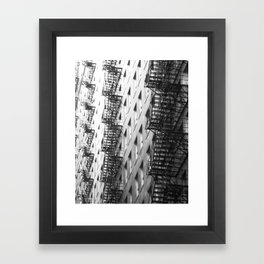 Chicago fire escapes Framed Art Print