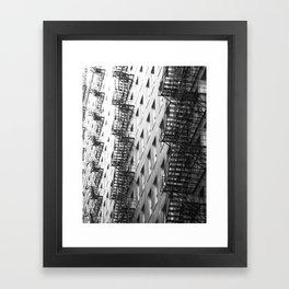 Chicago fire escapes Framed Art Print