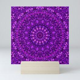 Purple Spiritual Flower Garden Mini Art Print