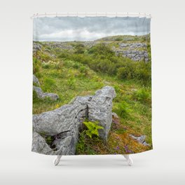 Cloudy Poulnabrone Landscape Shower Curtain
