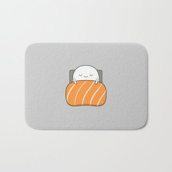 sleepy sushi Bath Mat
