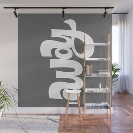 home/away ambigram Wall Mural