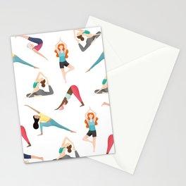 Yoga Pattern Stationery Cards