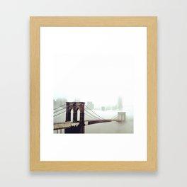 Manhattan lost in Fog Framed Art Print