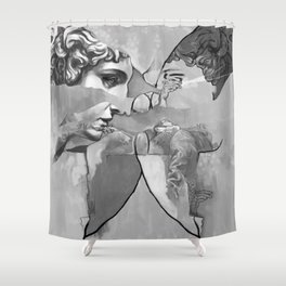 Ghost in the Stone #1 Shower Curtain