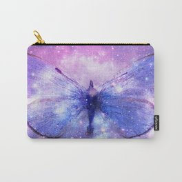 Celestial Butterfly Pink Lavender Periwinkle Blue Carry-All Pouch