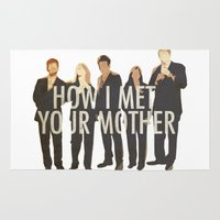 how i met your mother Area & Throw Rugs featuring How I Met Your Mother by Evelyn Gonzalez