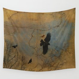 A Vintage Flight Of The Crows Wall Tapestry