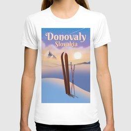 Donovaly Slovakia ski poster travel poster. T-shirt