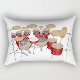 Red Drum Kit Rectangular Pillow