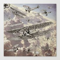 airplanes Canvas Prints featuring airplanes 2 by Кaterina Кalinich