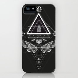 Mysterious moth iPhone Case