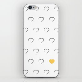 Hearts - Yellow iPhone Skin