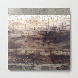 Cuneiform Driftwood Metal Print