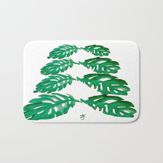Holiday Tree Leaves perfect for a card Bath Mat