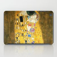 gustav klimt iPad Cases featuring Gustav Klimt The Kiss by Art Gallery