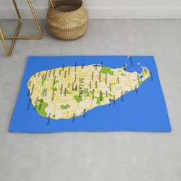 Sri Lanka Map Design Rug
