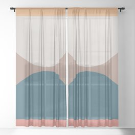 Abstract Geometric 23 Sheer Curtain