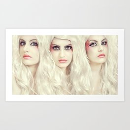 Candy Sisters Art Print