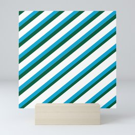 TEAM COLORS 1...LIGHT BLUE,GREEN Mini Art Print