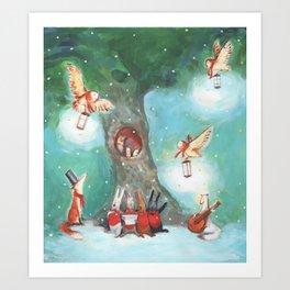 Forest Carol Art Print