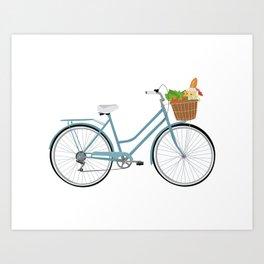 Farmer's Market Bike Art Print