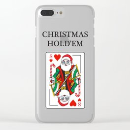 Christmas Hold'em Clear iPhone Case