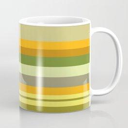 Yellow, Green, Orange Stripes Coffee Mug