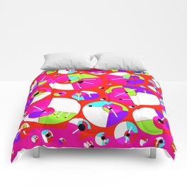 Bubble Red Comforters