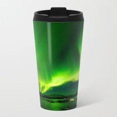 Northern Lights Aurora Borealis Metal Travel Mug