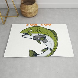 No more Sushi For You For Sushi Lovers Illustration Fish Sushi Roll Japanese Chopsticks T-shirt Rug