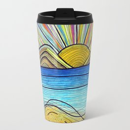 Psychedelic Sunrise Travel Mug