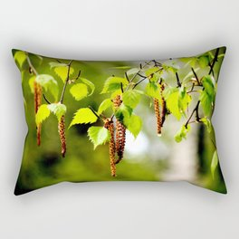 The birch leaves and catkins Rectangular Pillow