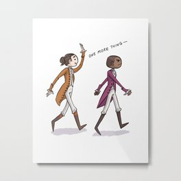 Non-Stop Aaron Burr and A.Ham Musical Merchandise Metal Print