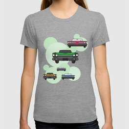 Vintage Route 66 colorful cars T-shirt
