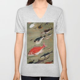 Fish school, Octopus - Digital Remastered Edition Unisex V-Neck