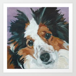 Sunny the Border Collie Art Print