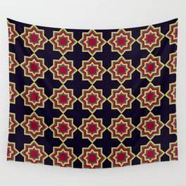 Moroccan Flare Geometric Seamless Pattern Wall Tapestry