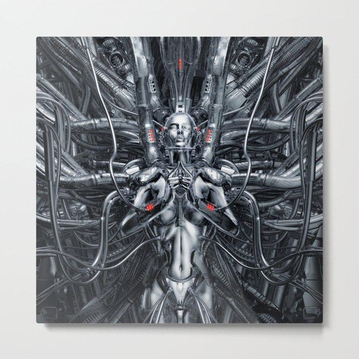 Maiden In The Machine Metal Print
