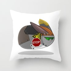 SuperSonic Flying Robot Rabbit 2000 Throw Pillow