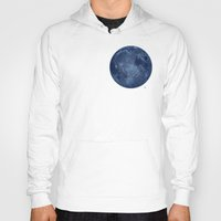 dark side of the moon Hoodies featuring Dark Side of the Moon - Painting by Nicole Cleary