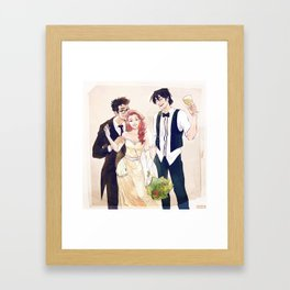 James and Lily's wedding Framed Art Print