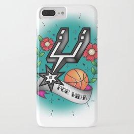 Old-School Spurs Love iPhone Case
