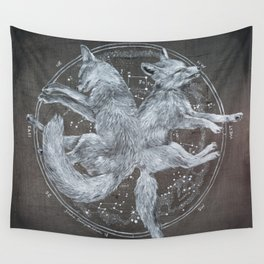 The White Foxes Wall Tapestry