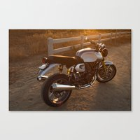 ducati Canvas Prints featuring Ducati 003 by Austin Winchell