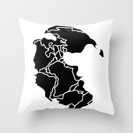 Pangaea Continent Throw Pillow