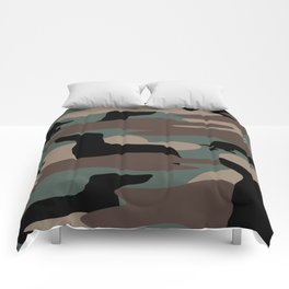 Camo Weiner Dogg Comforters