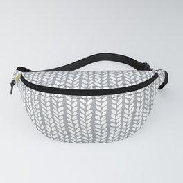 Knit Wave Grey Fanny Pack