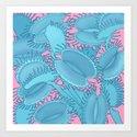 Free hugs (Venus Flytrap on pink) by ikerpazstudio